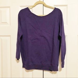 Purple Off the Shoulder Sweater